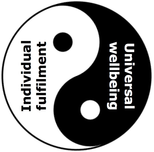 Individual fulfilment and Universal wellbeing