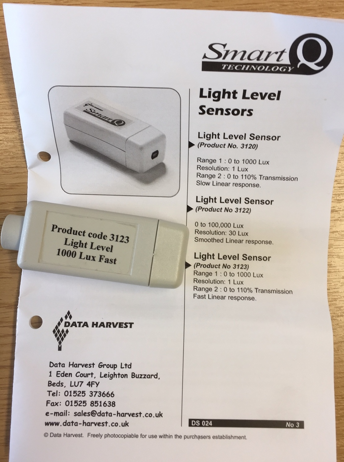 Light level sensor