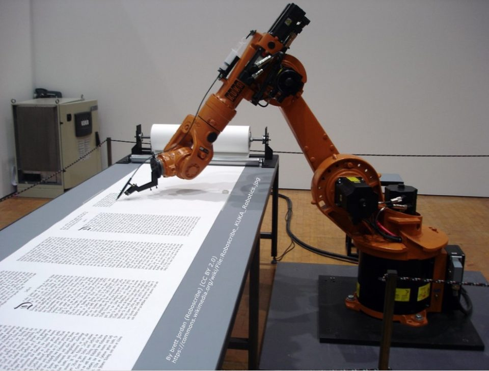 Robot 'writing'