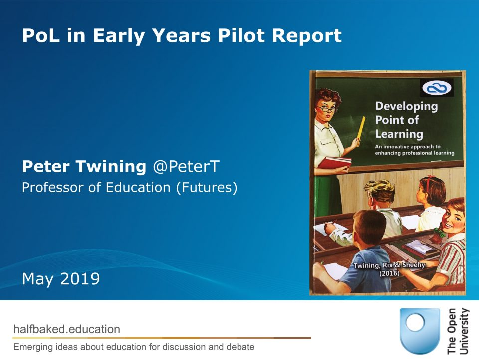 PoL in Early Years Pilot Report