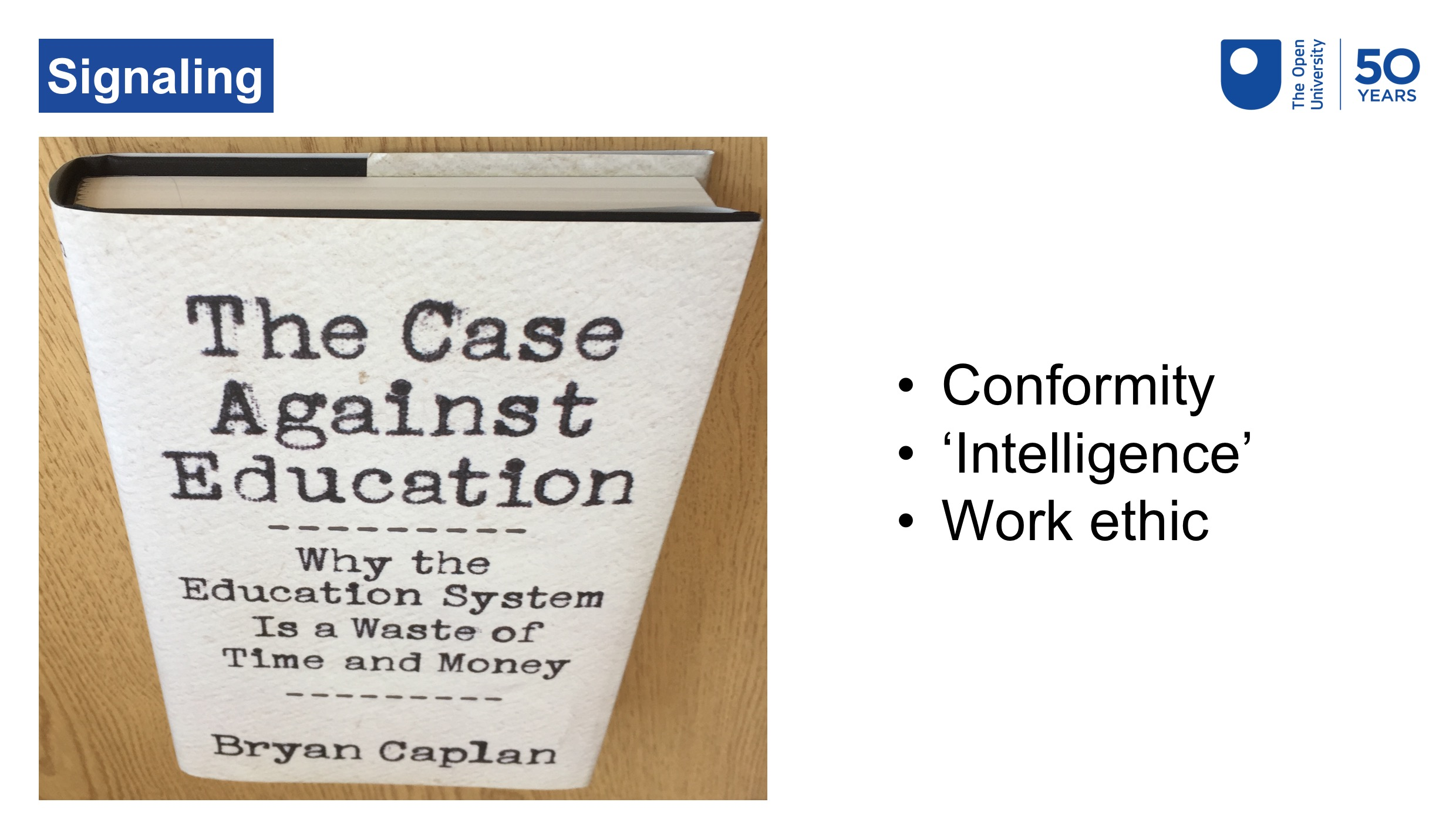 Photo of The Case Against Education by Bryan Caplan