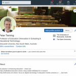Peter Twining's LinkedIn profile