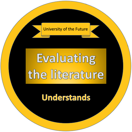 Evaluating the Literature - Understands Badge